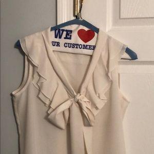 Gorgeous Ivory Ann Taylor loft blouse